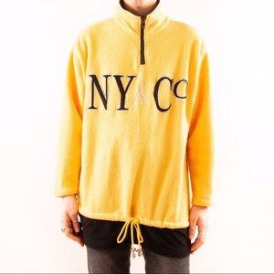1990's NY&CO Logo Fleece Pullover Sweatshirt